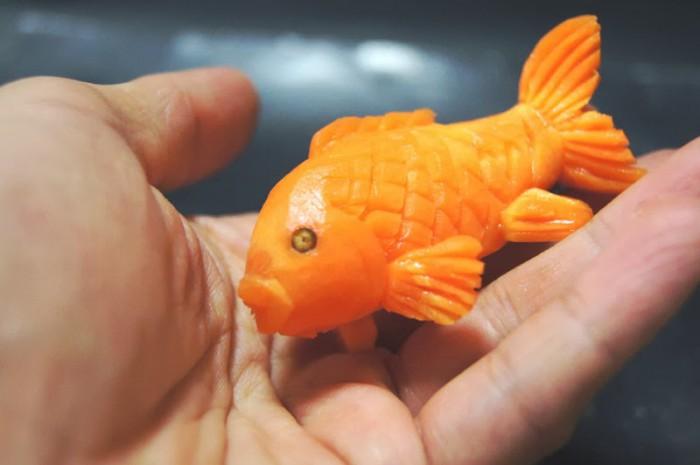 Рыбки из моркови