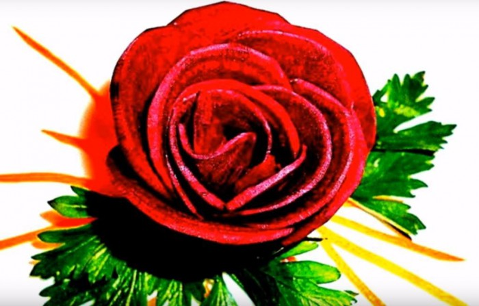 Как сделать розу из свеклы
